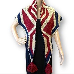 Americana flag triangle wrap shawl scarf